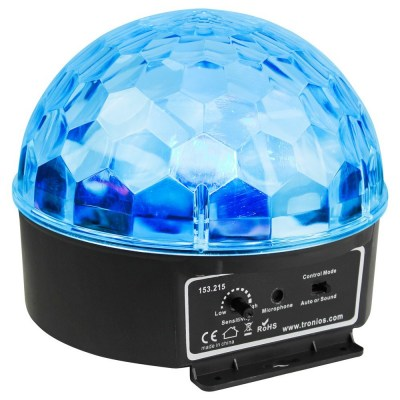 BeamZ mini Half Ball 6x 3W RGBAWP LED s IR